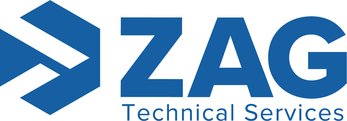 ZAG New Logo in cobalt blue